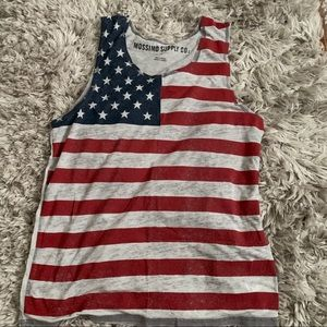 MOSSIMO SUPPLY CO flag tank top L